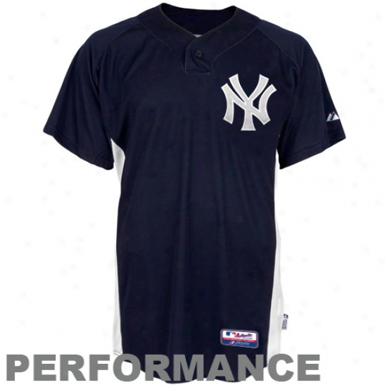 New York Yankees Jersey : Majestic New York Yankees Navy Blue Replica Baseball Performance Jersey