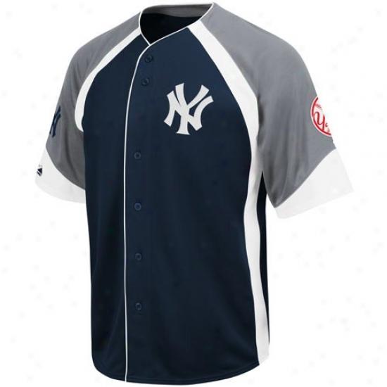 Repaired York Yankees Jersey : Majestic New York Yankees Ships of war Blue-gray Wheelhouse Baseball Jersey