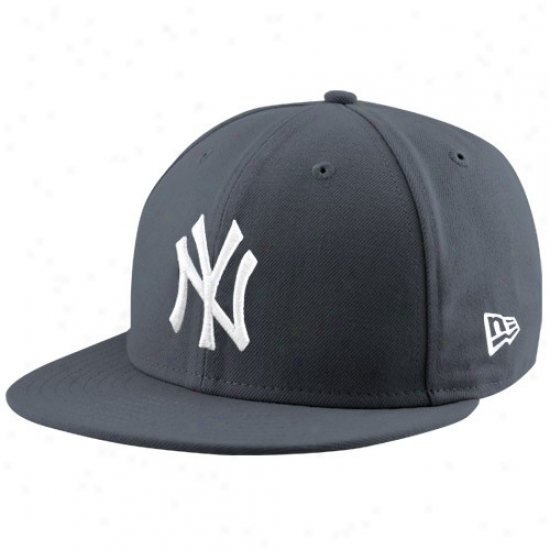 New York Yankees Merchandise: New Era New York Yankees Graphite League 59fifty Fitted Hat