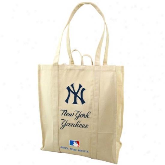New York Yankees Natural Resuable Organic Tote Bag