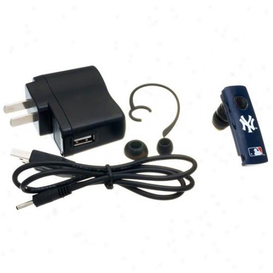 New York Yankees Navy Blue Bluetooth Headset