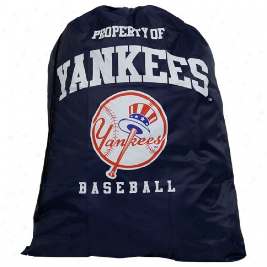 New York Yankees Navy Blue Drawstring Laundry Bag