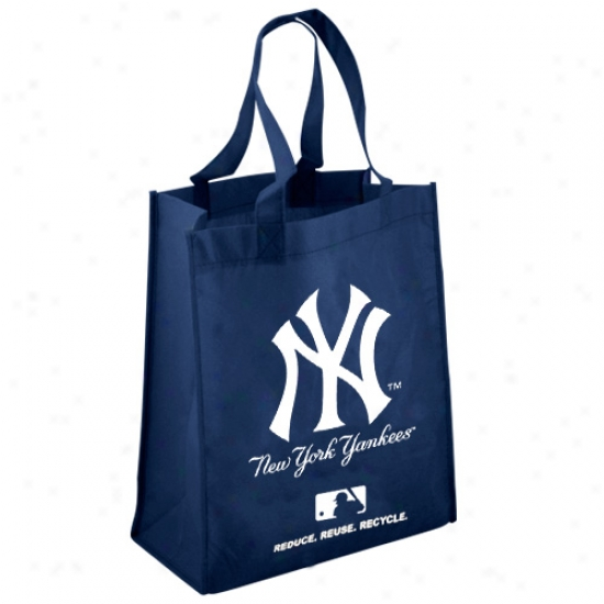 New York Yankees Ships of war Blue Reusabls Tote Bag