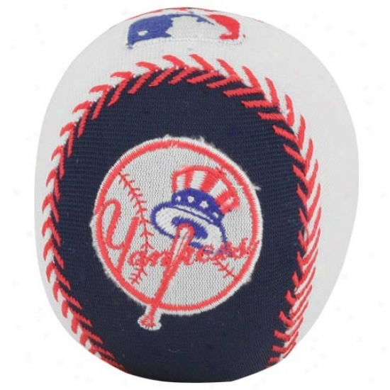 New York Yankees Navy Blue-white Talking Smasher Baseball
