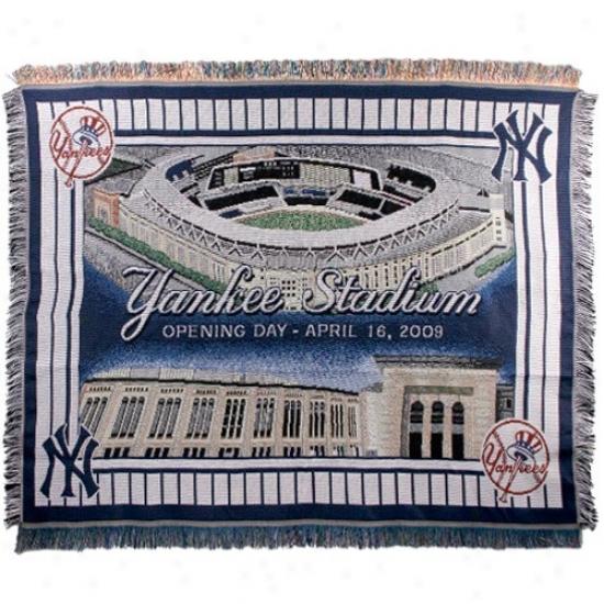 New York Yankees Opening Day Yankee Stadium 48'' X 60'' Jacquard Woven Blanket Throw