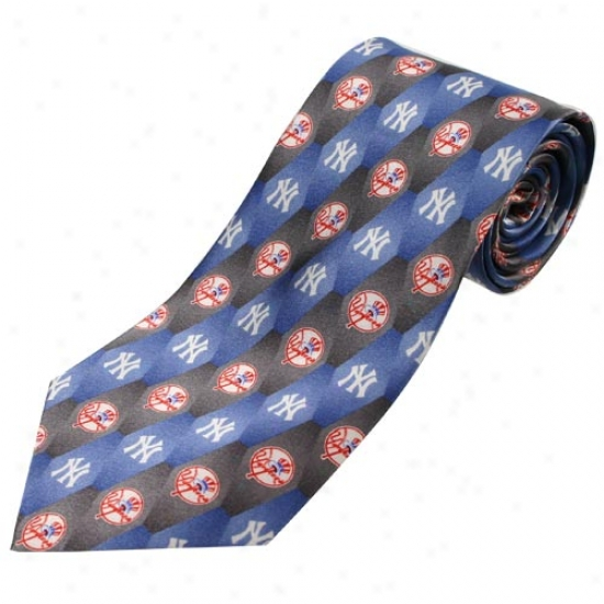 Novel York Yankees Pattern 1 Silk Tie