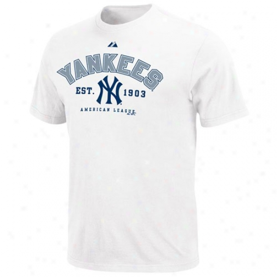New York Yankees Shirts : Majestic New York Yankees White Base Stealer Shirts