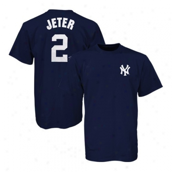 New York Yankees Shirts : New York Yankees Navy Blue #2 Derek Jeter Preschool Shirts