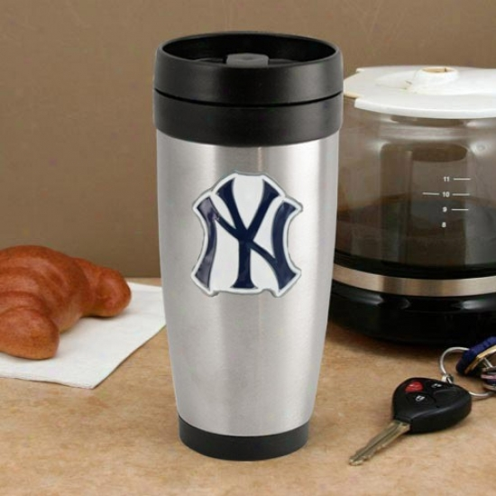 New York Yankees Stainless Steel Team Logo Thermo Travel Tumbler