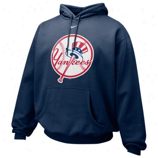 New York Ynakees Stuff: Nike New York Yankees Navy Blue Pre-game Hoody Sweatshirt
