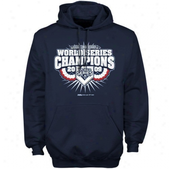 New York Yankees Sweatshirt : New York Yankees Navy Blue 2009 World Series Champlons It's Outta Here Sweatshirt