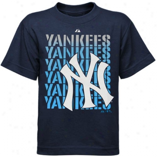 New York Yankees Tee : Elevated New York Yankees Preschool Navy Blue Game Begin Tee