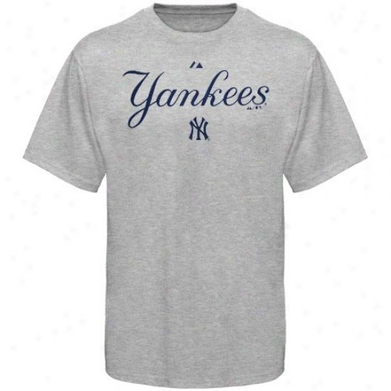 New York Yankees Teee : Majestic New York Yankees Youth Ash Series Sweep Tee