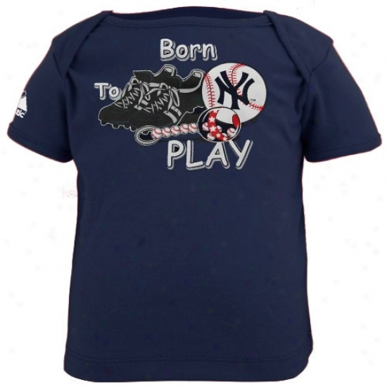 New York Yankees Tee : Majestic New York Yankees Navy Blue Infant Born To Play Tee
