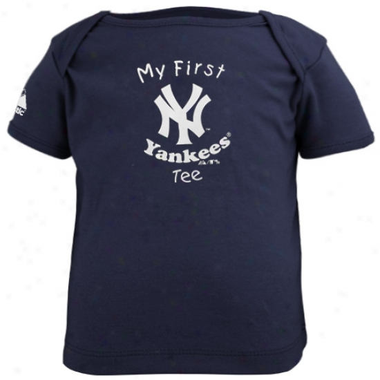 New York Yankees Tee : Majestic New York Yankdes Navy Bl8e Newborn And Infant My First Tee Tee