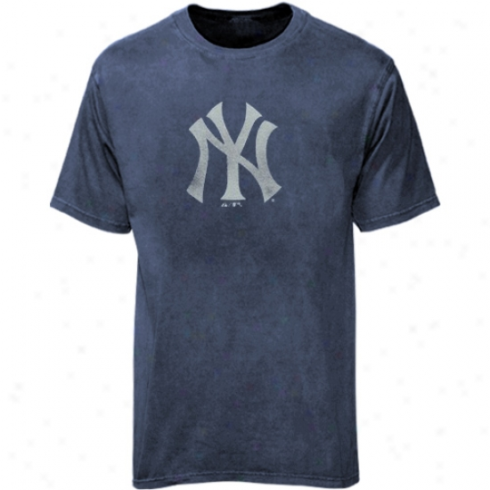 New York Yankees Tees : Majestic New York Yankees Youth Heather Dismal Big Time Play Tees