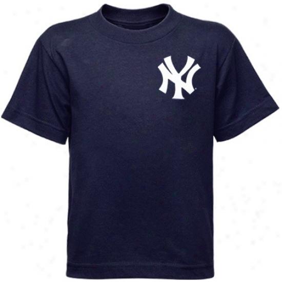 New York Yankees Tees : New York Yankees Preschool Navy Blue Team Wordmark Tees