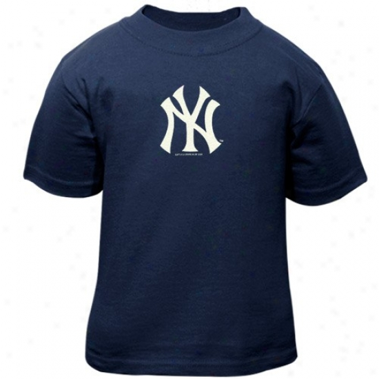 New York Yankees Tshirt : New York Yankees Toddlef Navy Blue Primary Logo Tshirt