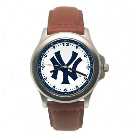 New York Yankees Watches : New York Yankees Rookie Watches W/leather Band