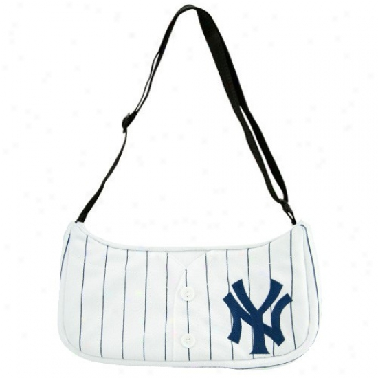 Starting a~ York Yankees Whits Pinstripe Basegall Jersey Purse