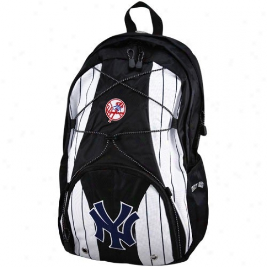 New York Yankees White Pinstripe-black Darth Backpack