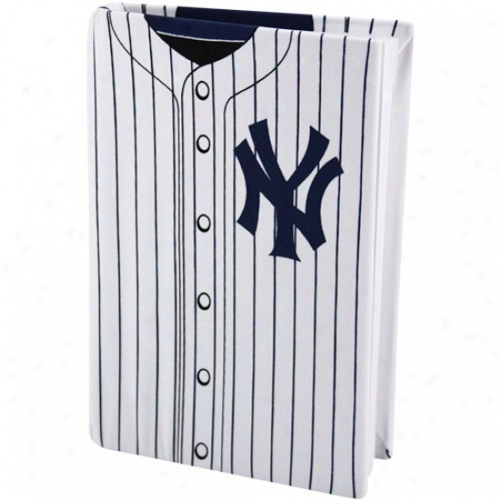 White Stretchable Book Cover : New york yankees white tripe jersey stretchable book