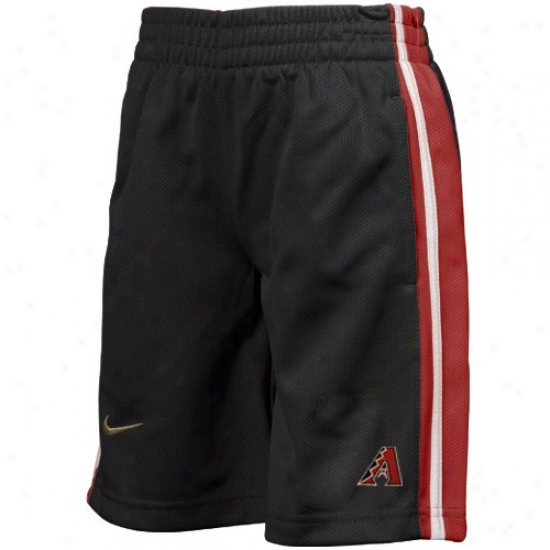 Nike Arizona Diamondbacks Youth Black Mlb Claesic Mesh Shorts