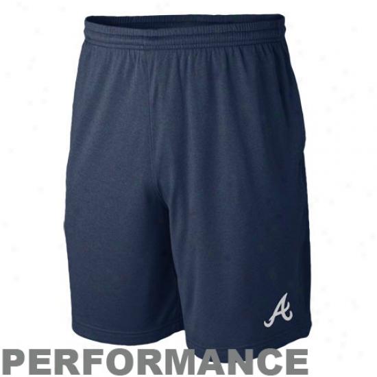 Nike Atlanta Braves Navy Blue Mlb Training Shorts