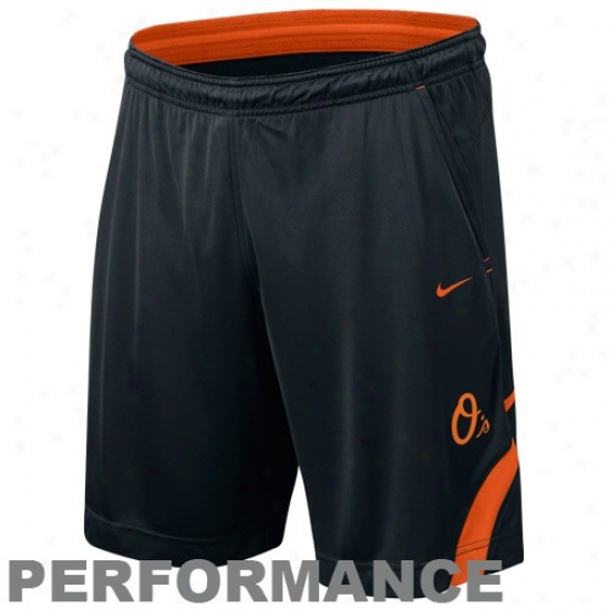 Nike Baltimore Orioles Black Dri-fitt Performance Training Shorts