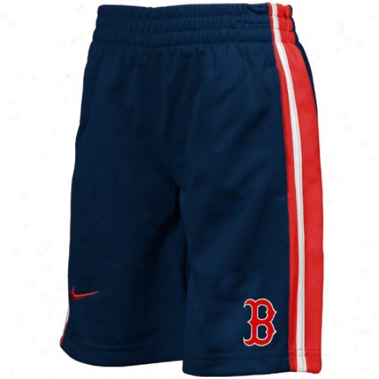 Nike Boston Red Sox Youth Navy Blue  Mlb Elegant Mesh Shorts