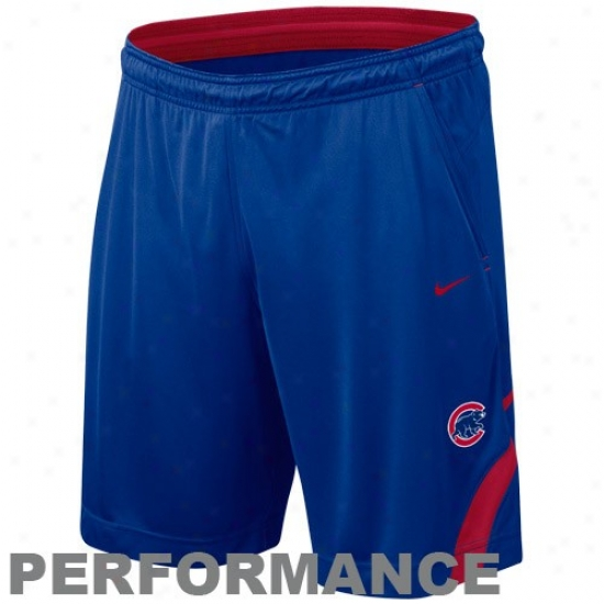 Nike Chicago Cubs Royal Blue Mlb Dri-fit Performance Training Shorts
