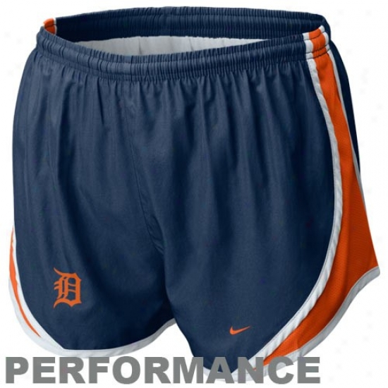 Nike Detroit Tigers Ladies Navy Blue Mlb Tempo Performance Shorts