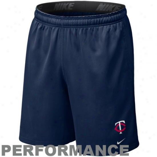 Nike Minnesota Twins Navy Blue Mlb Flyweight Performance Shorts