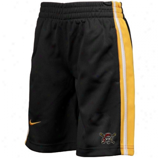Nike Pittsburgh Pirates Youth Black Mlb Classic Mesh Shorts