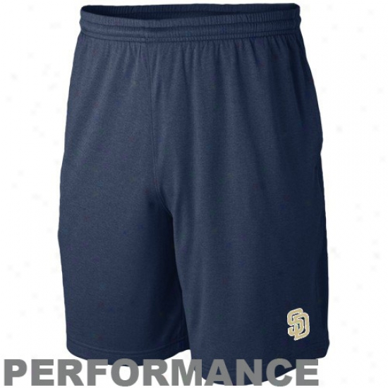 Nike San Diego Padres Navy Blue Mlb Performance Training Shorts