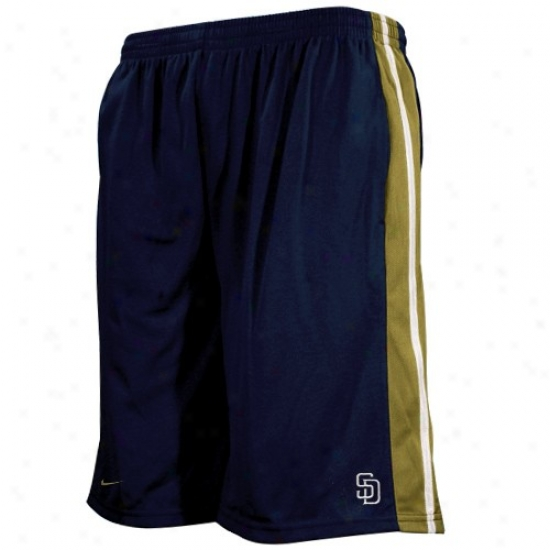 Nike San Diego Padres Youth Navy Blue Classic Mesh Shorts