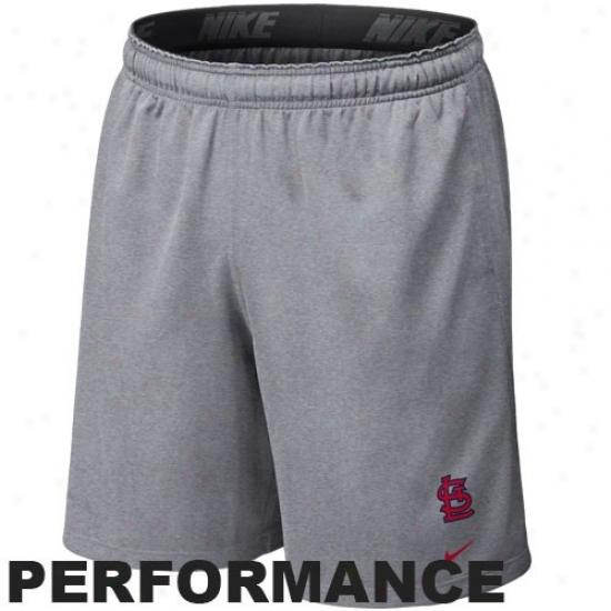 Nike St. Louis Carrdinals Ash Mlb Flyweight Performance Shorts