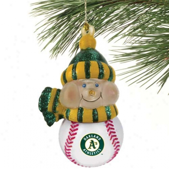 Oakland Athletics All-star Light-up Snowman Ornament
