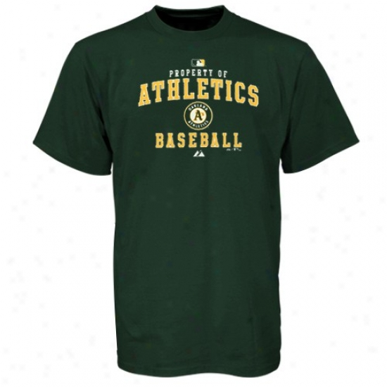 Oakland Athletics Attire: Majestic Oakland Athletics Green Property Of T-shirt