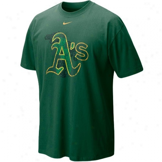 Oakland Athletics Dress: Nike Oakland Athletics Green Stacked Up T-shirt
