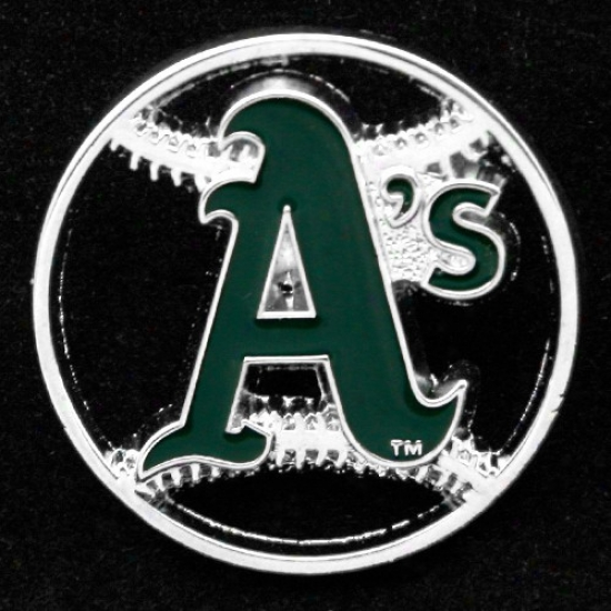 Oaklan Athletics Caps : Oakland Athletics Team Logo Cut-out Baseball Pin