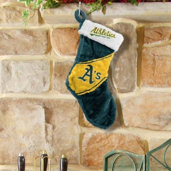 Oakland Athletics Colorblock Plush Stocking