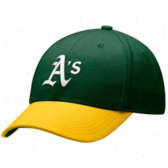 Oakland Athletics Gear: Nike Oakland Athletics Green-gold Cooperstown Adjustable Wool Hat
