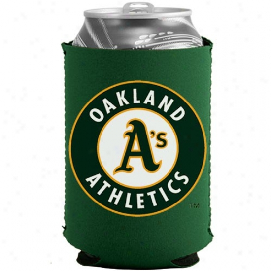 Oakland Athletics Green Collapsible Can Coolie