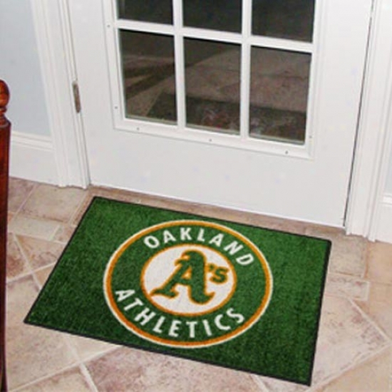 Oakland Athletics Green Logo Starter Mat