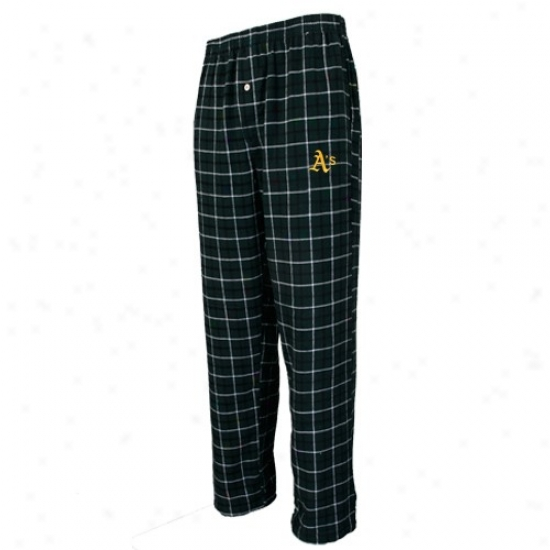 Oakland Athletics Green Plaid Gridiron Flannel Pants