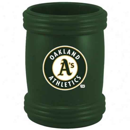 Oakland Athletics Green Sports Magna-coolie Magnetic Beverage Holder