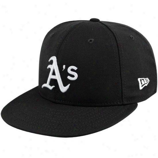 Oakland Athletics Hat : New Efa Oakland Athletics Black League Basic Fitted Hat