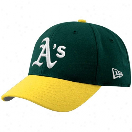 Oakland Athletics Hat : New Era Oakland Athletics Green-gold Pinch Hotter Adjustable Hat