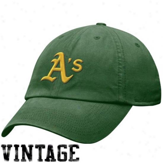 Oakland Athletics Haats : Nike Oakland Athletics Green Relaxed Fit Adjustabl3 Hats